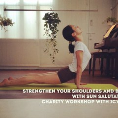 Strengthen your shoulders and back with Sun Salutation charity class with Icy Lee