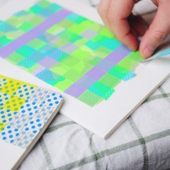 紙膠帶編織記事簿工作坊 Masking Tape Weaving Notebook Workshop