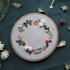 刺繡聖誕花圈掛飾工作坊