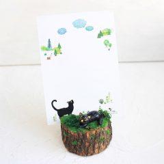 黑貓明信片座 免燒陶 土雕塑工作坊 Art-shop Black Cat Postcard Stand Making Workshop