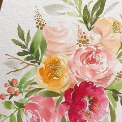 兒童色彩文化課程 | 淡綠色 – 托斯卡尼花海水彩畫工作坊