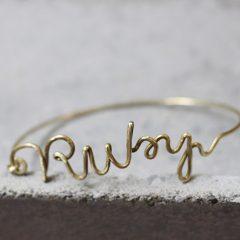 銅線文字手鐲工作坊 Copper wire bracelet workshop